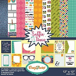 CrafTreat Paper Pack - Selfie Time 12x12