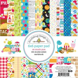 """Doodlebug Double-Sided Paper Pad 6""""X6"""" 24/Pkg So Much Pun"""