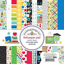 """Doodlebug Double-Sided Paper Pad 6""""X6"""" 24/Pkg School Days"""