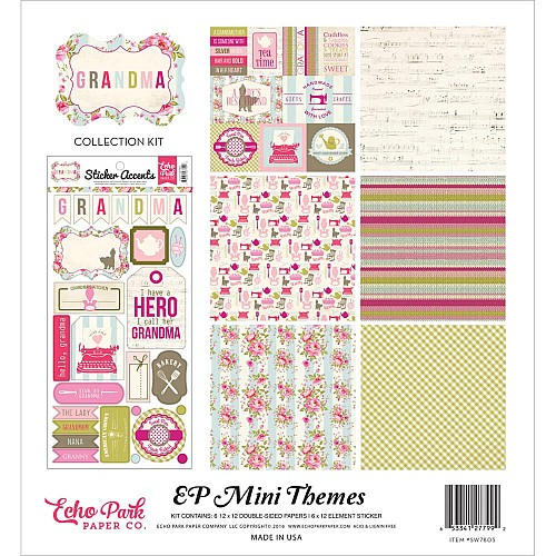 EchoPark paper pad - Grandma Collection Kit (12 by 12 inch)