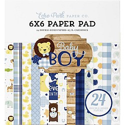 Echo Park paper pad - Baby Boy (6by6 inch)