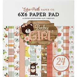 Echo Park paper pad - Baby Girl (6by6 inch)