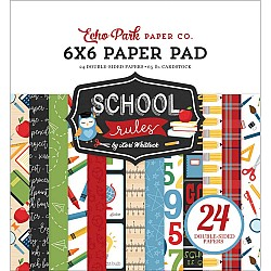 Echo Park paper pad - School Rules (6by6 inch)