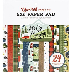 """Echo Park Double-Sided Paper Pad 6""""X6"""" 24/Pkg - Lets go Camping"""
