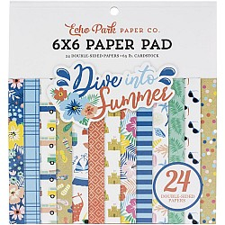 Echo Park paper pad - Dive in to Summer (6by6 inch)