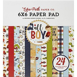Echo Park paper pad - All Boy (6by6 inch)