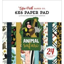 Echo Park paper pad - Animal Safari (6by6 inch)