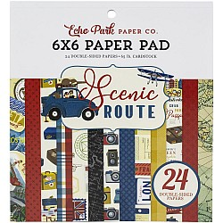 Echo Park paper pad - Scenic Route (6by6 inch)