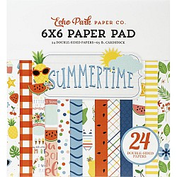 Echo Park paper pad - Summer Time (6by6 inch)