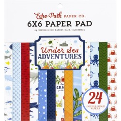 "Echo Park Double-Sided Paper Pad 6""X6"" 24/Pkg - Under Sea Adventures"