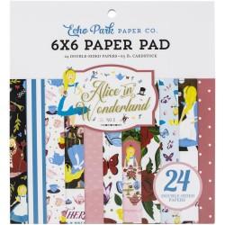Echo Park paper pad - Alice in Wonderland (6by6 inch)