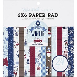 Echo Park paper pad - My Favorite Winter (6by6 inch)