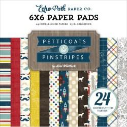 EchoPark paper pad - Boy Petticoats & Pinstripes (6by6 inch)