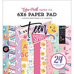 Echo Park paper pad - Teen Spirit Girl (6by6 inch)