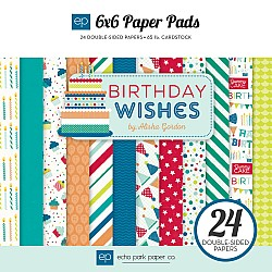 EchoPark paper pad - Birthday Wishes - Blue (6by6 inch)