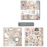 10x10 EnoGreeting Scrapbook paper pack - Pink Florals (PP006) (Set of 24 sheets 2 die cut sheets)