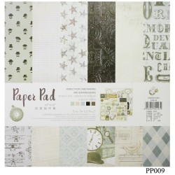 10x10 EnoGreeting Scrapbook paper pack - Traveller (PP009) (Set of 24 sheets and 2 die cut sheets)