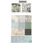 10x10 EnoGreeting Scrapbook paper pack - Traveller (PP009) (Set of 24 sheets and 2 die cut sheets)