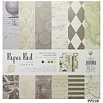 10x10 EnoGreeting Scrapbook paper pack - Wanderer (PP010) (Set of 24 sheets and 2 die cut sheets)