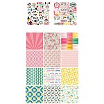 10x10 EnoGreeting Scrapbook paper pack - Colorful (PP012) (Set of 24 sheets and 2 die cut sheets)