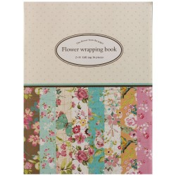 EnoGreeting - Flower Wrapping Paper Book (A4 paper - set of 16 sheets)