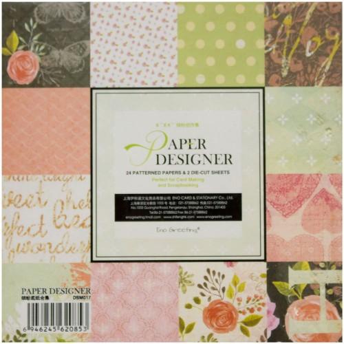 EnoGreeting Scrapbook paper pack - Floral Pack (Set of 24 sheets and 2 die cuts)