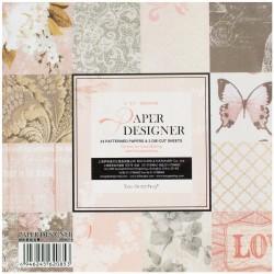 EnoGreeting Scrapbook paper pack - Love (Set of 24 sheets and 2 die cuts)