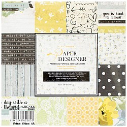 EnoGreeting Scrapbook paper pack - All about You (Set of 24 sheets and 2 die cuts)