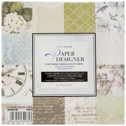 EnoGreeting Scrapbook paper pack - Timeless Treasures (Set of 24 sheets and 2 die cuts)