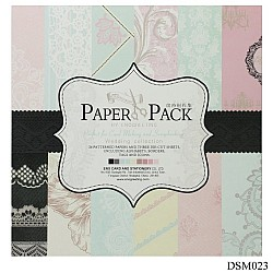EnoGreeting Scrapbook paper pack - Pastels (Set of 24 sheets and 2 die cuts)