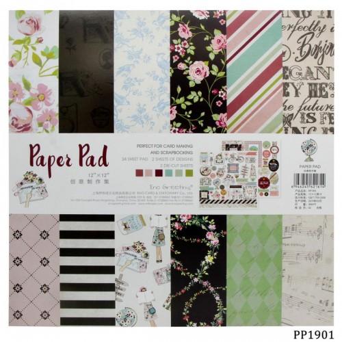 12x12 EnoGreeting Scrapbook paper pack - PP1901 (24 sheets)
