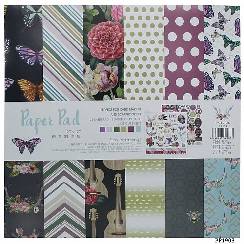 12x12 EnoGreeting Scrapbook paper pack - PP1903 (24 sheets)