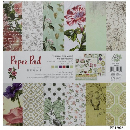 12x12 EnoGreeting Scrapbook paper pack - PP1906 (24 sheets)