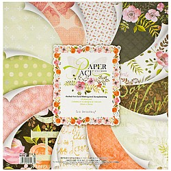 EnoGreeting Scrapbook paper pack - Floral Pack (PS021) (Set of 24 sheets and 1 die cut sheets)