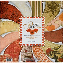 EnoGreeting Scrapbook paper pack - Red Florals (PS022) (Set of 24 sheets and 1 die cut sheets)