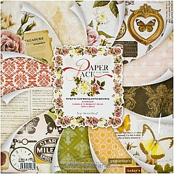 EnoGreeting Scrapbook paper pack - Florals (PS023) (Set of 24 sheets and 1 die cut sheets)