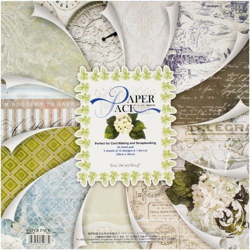 EnoGreeting Scrapbook paper pack - Timeless Treasures (PS025) (Set of 24 sheets and 1 die cut sheets)