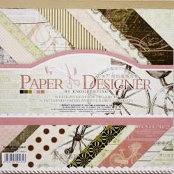 7x7 EnoGreeting Scrapbook paper pack - Romantic (DSM013) (Set of 36 sheets and 4 die cuts)