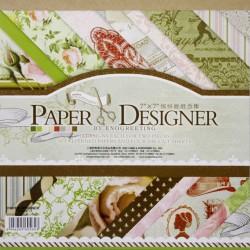 7x7 EnoGreeting Scrapbook paper pack - Romantic (DSM015) (Set of 36 sheets and 4 die cuts)