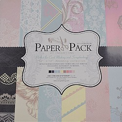 12x12 EnoGreeting Scrapbook paper pack - Pastels (Set of 24 sheets and 3 die cut sheets)