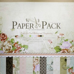 12x12 EnoGreeting Scrapbook paper pack - Romantic Series (Set of 24 sheets and 3 die cut sheets)