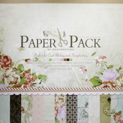 12x12 EnoGreeting Scrapbook paper pack - Romantic Series (Set of 24 sheets and 3 die cut sheets)