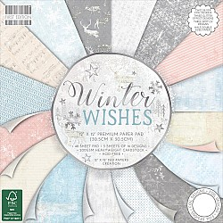 """First Edition Premium Paper Pad 12""""X12"""" - Winter Wishes (48/Pkg)"""