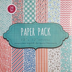 "Scrapbook Paper Pack - Floral (12""x12"")"