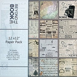 "Scrapbook Paper Pack - Beyond the Book (12""x12"")"