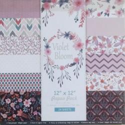 "Scrapbook Paper Pack - Violet Bloom (12""x12"")"