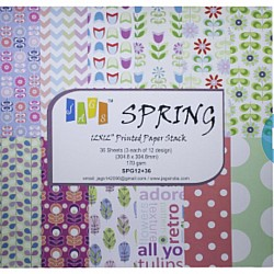 12 by 12 Paper Pack - Spring (Set of 36 sheets)