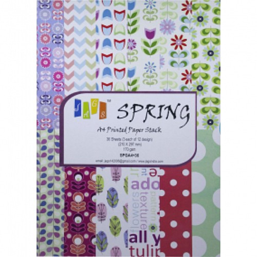 Assorted A4 Paper Pack - Spring (Set of 36 sheets)