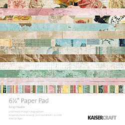 KaiserCraft paper pad - Scrap Studio (6.5 by 6.5 inch) - 40 sheets