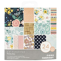 KaiserCraft paper pad - Paisley Days (6.5 by 6.5 inch) - 36 sheets plus 4 die cut sheets